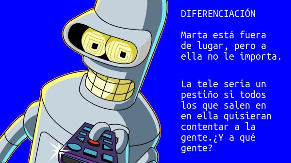 Bender y el modelo Marta