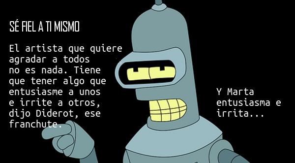 Bender y la fidelidad a uno mismo
