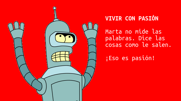 Bender y la pasión de Marta