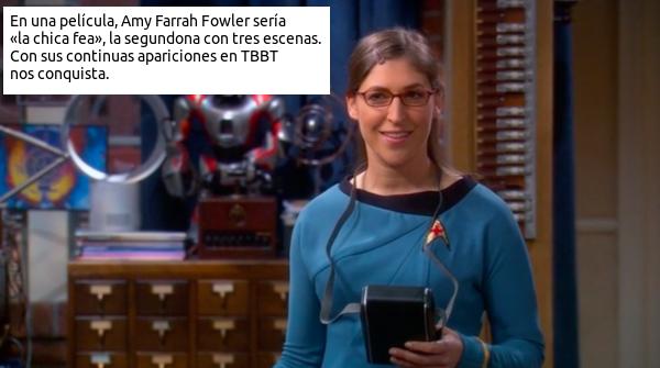 Amy Farrah Fowler como Uhura