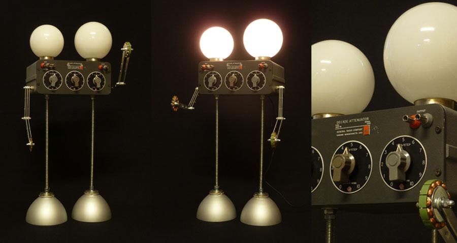 robot-decade-attenuator-atenuador-aparato-laboratorio-lampara-decoracion-general-radio-company-reutilizacion-dosdetres