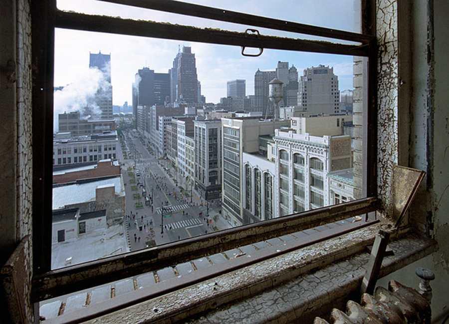 Vista de la Woodward Avenue de Detroit. Photograph: Yves Marchand and Romain Meffre