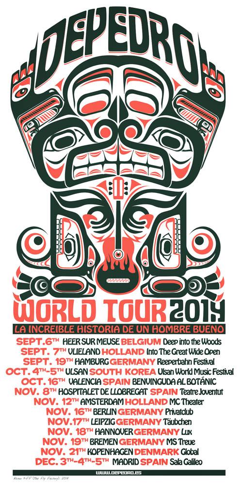 DEPEDRO poster gira 2014