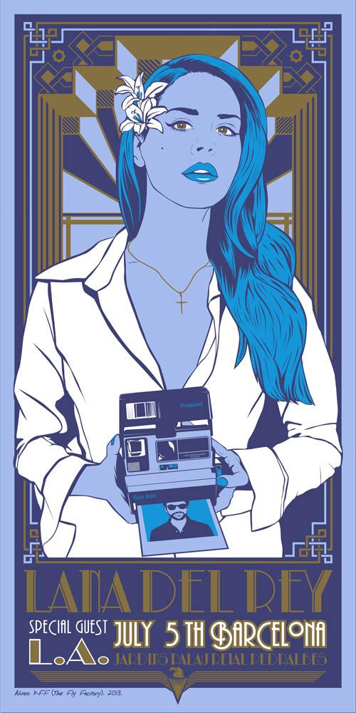 Poster Lana del Rey + LA 2013