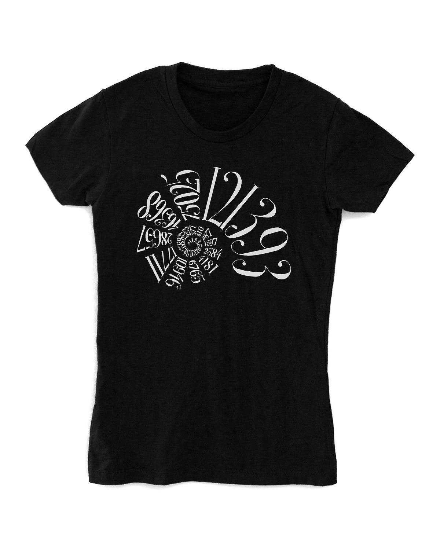 Fibonacci-Shirt-Womens-Black