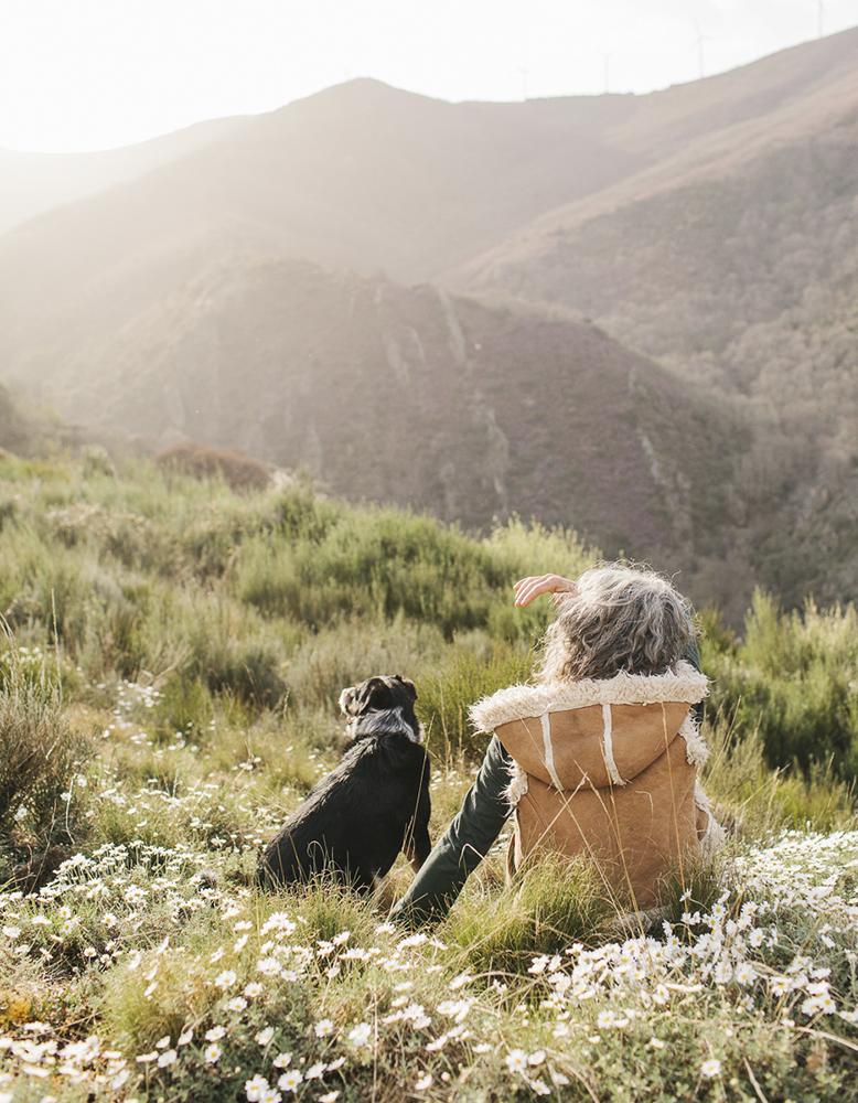 Christina and her dog