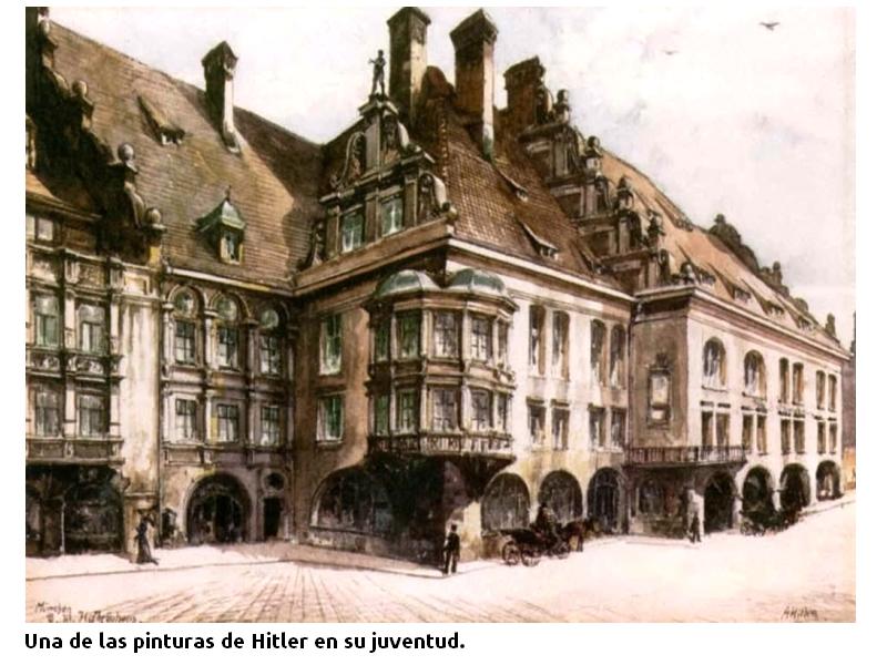Una pintura de Hitler