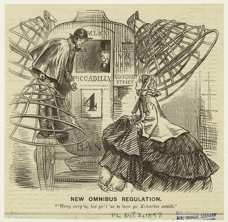 Crinoline Omnibus 1858 NYPL