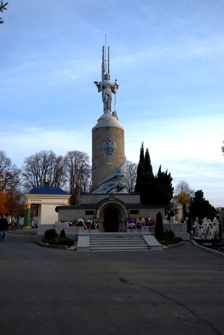 Monumneto a todos los cáidos en la I Guerra Mundial en el cementerio de Novo Groblje