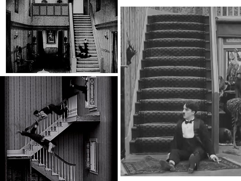 Escaleras en el cine mudo