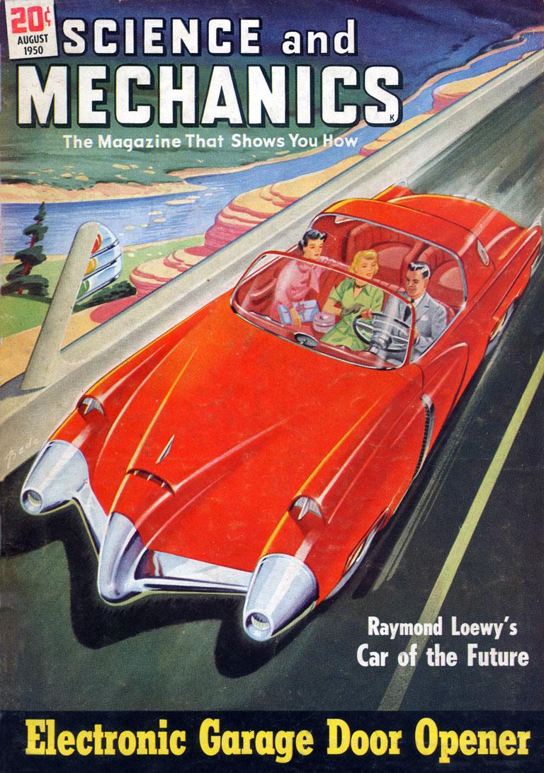Car of the Future 1950. Arthur C. Bade (1899–1975), Science and Mechanics Publishing