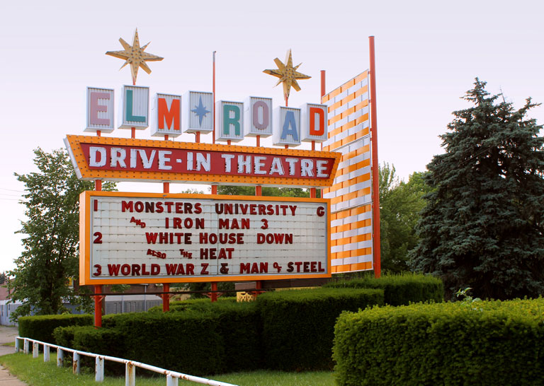 Elm Road Drive-in Theatre by Jack Pearce