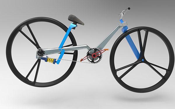 Bici plegable. Diseño Chacko T. Kalacehrry