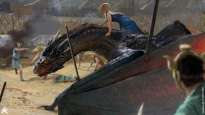 Karakter - Dragón en la arena 02