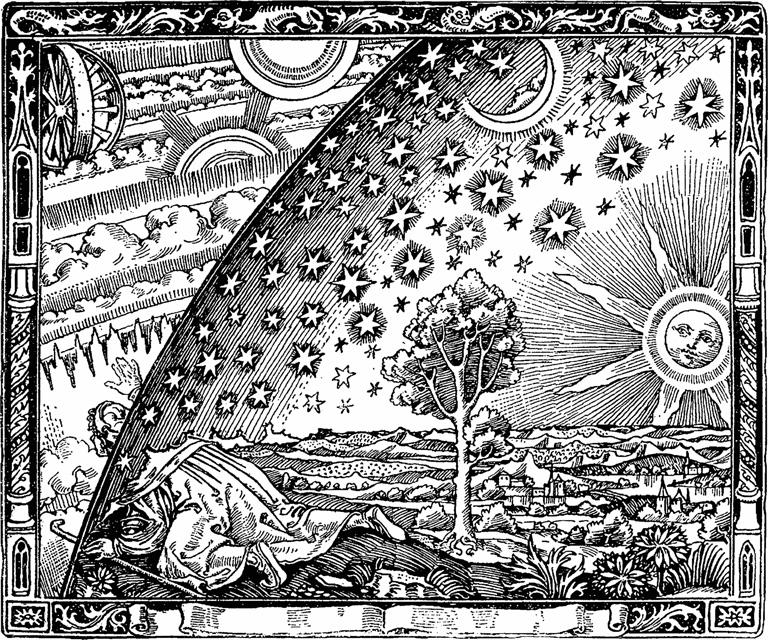 Ilustración de la obra de Camille Flammarion L'atmosphère météorologie populaire (1888)