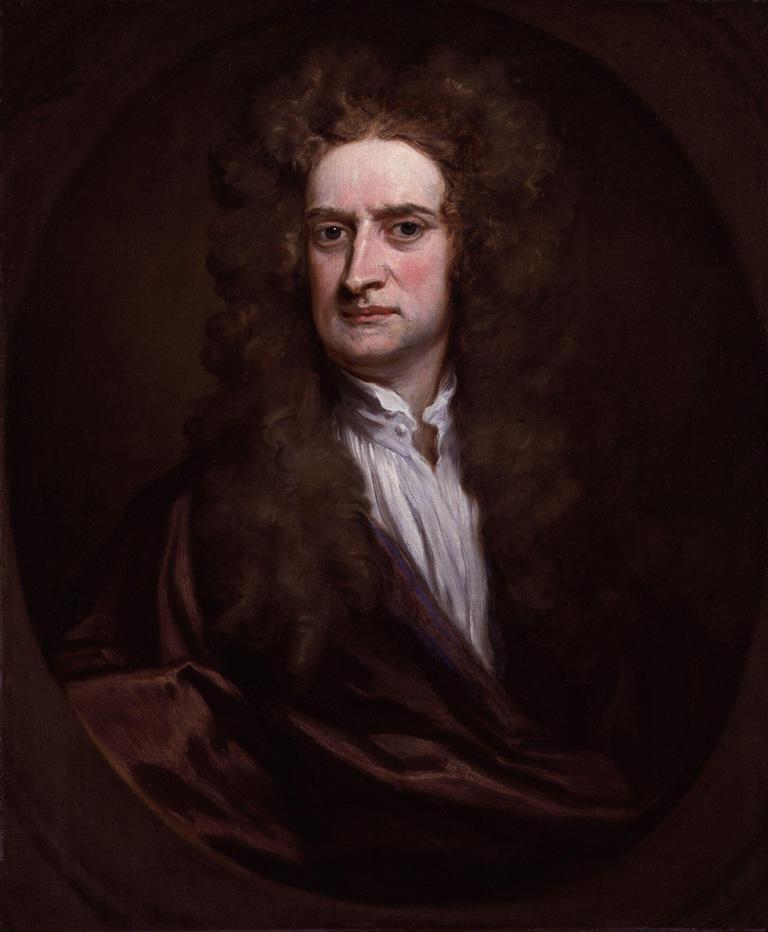 Sir Isaac Newton (1642-1727) by Sir Godfrey Kneller, Bt