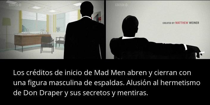 Mad Men - Créditos cocn personaje de espaldas