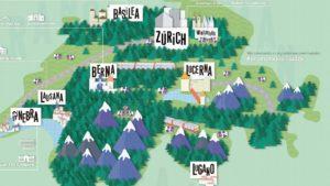 ¿Cabe en un mapa todo el arte de Suiza?