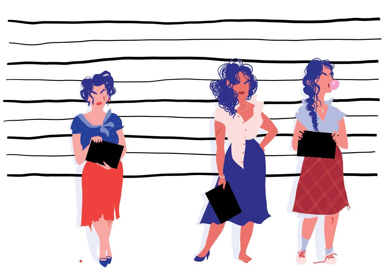 Ilustración de las hermanas Mirabal, conocidas como 'Las mariposas' y luchadoras por la libertad durante la dictadoura domunicana de Trujillo