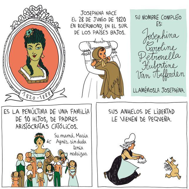 Viñetas de Bagieu sobre Josephine van Gorkum
