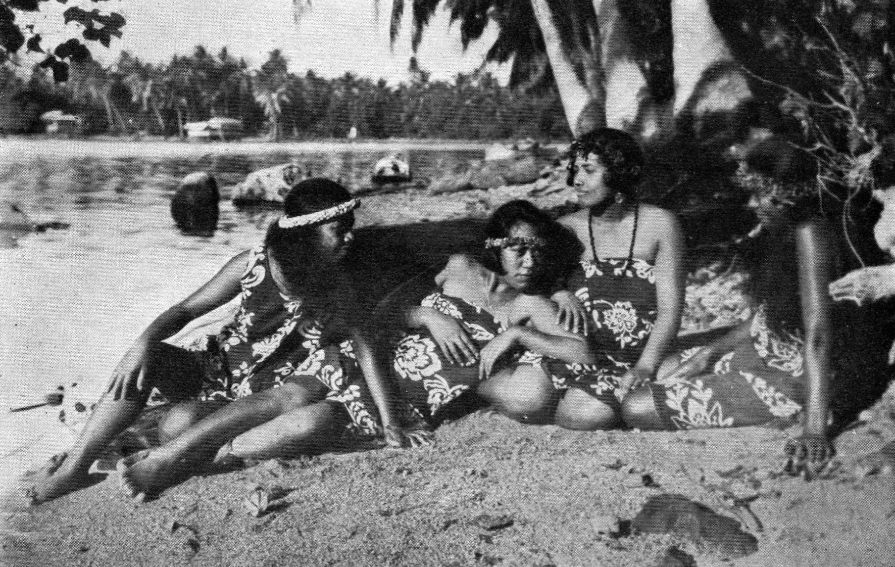 Mujeres de la Polinesia