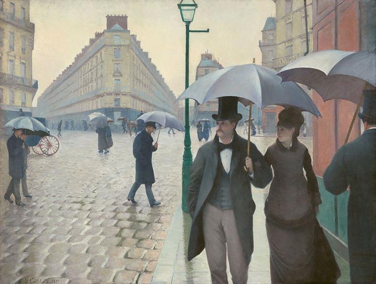 Una calle de París en un día de lluvia - Gustave Caillebotte