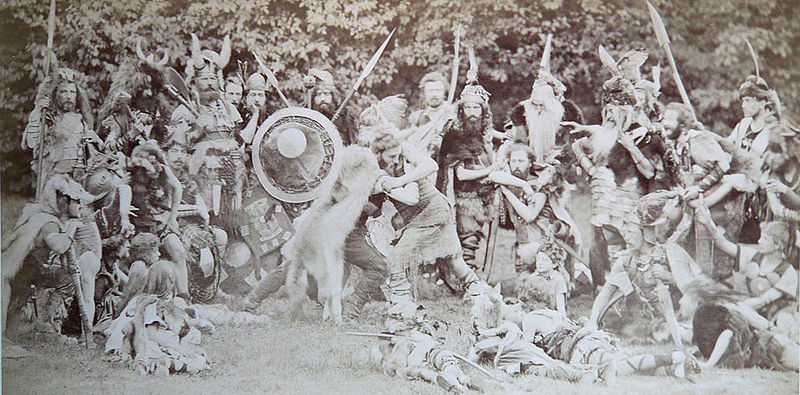 Tableau Vivant Kaiserfest Malkasten Düsseldorf, 1877