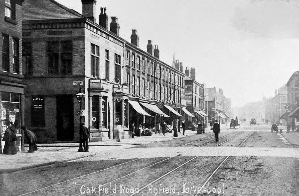 The Sandon, Oakfield Road, Anfield, 1902. Vía Shankly Hotel.