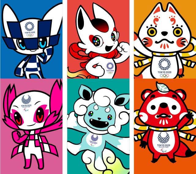 Mascotas de los JJ. OO. de Japón 2020