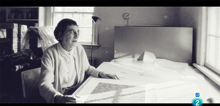 Anni Albers. Fotograma extraído del programa 'La Sala' (La 2), 'Anni Albers. Tocar la vista'
