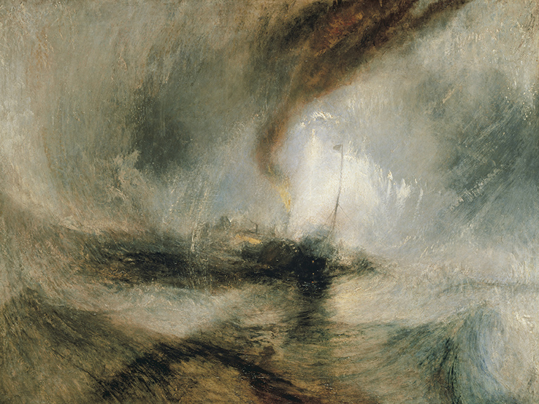 Snow Storm - Steam-Boat off a Harbour's Mouth. Joseph Mallord William Turner