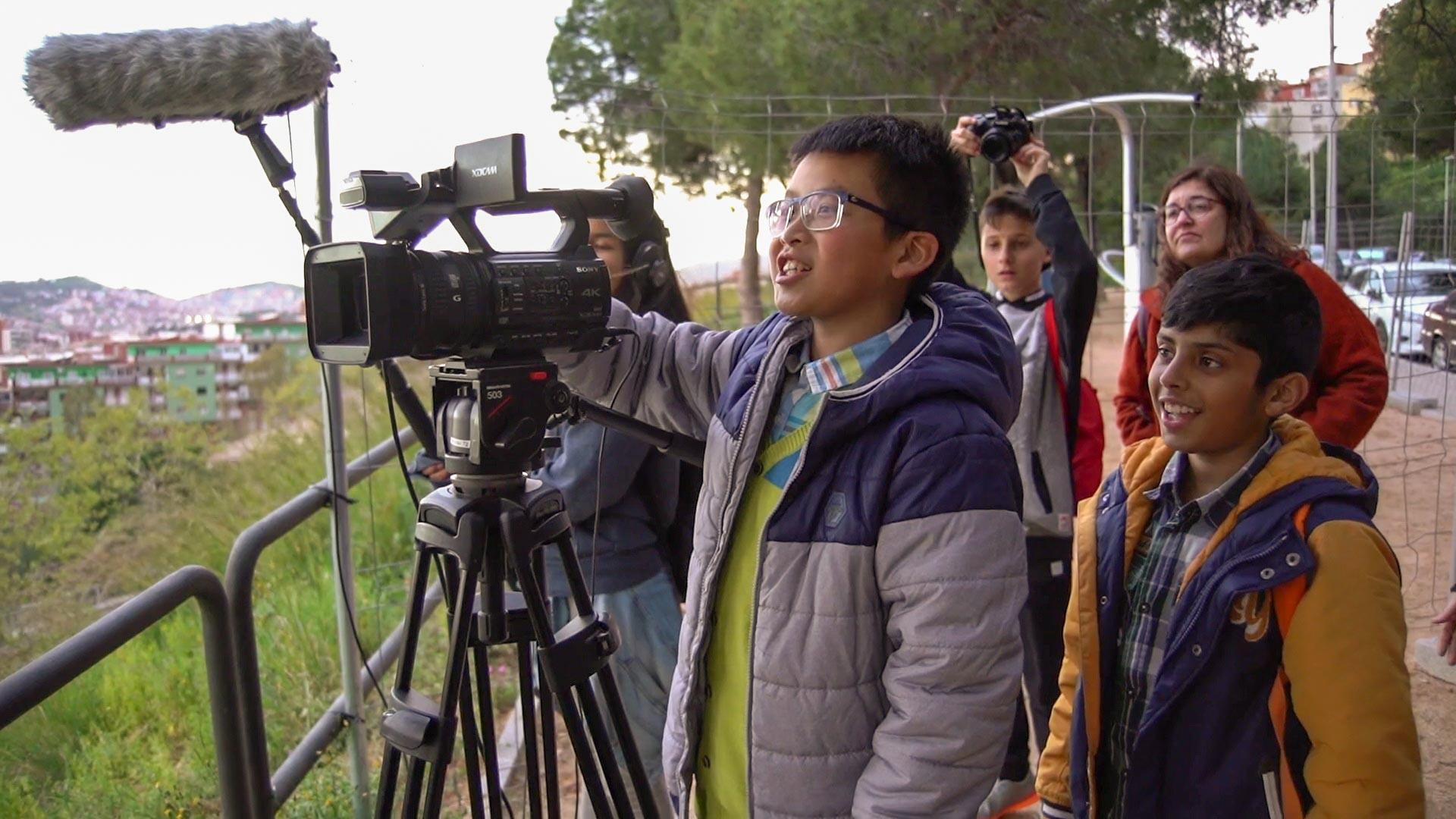 Alumnos del Institut Escola Trinitat Nova de Barcelona. © Cine en curso