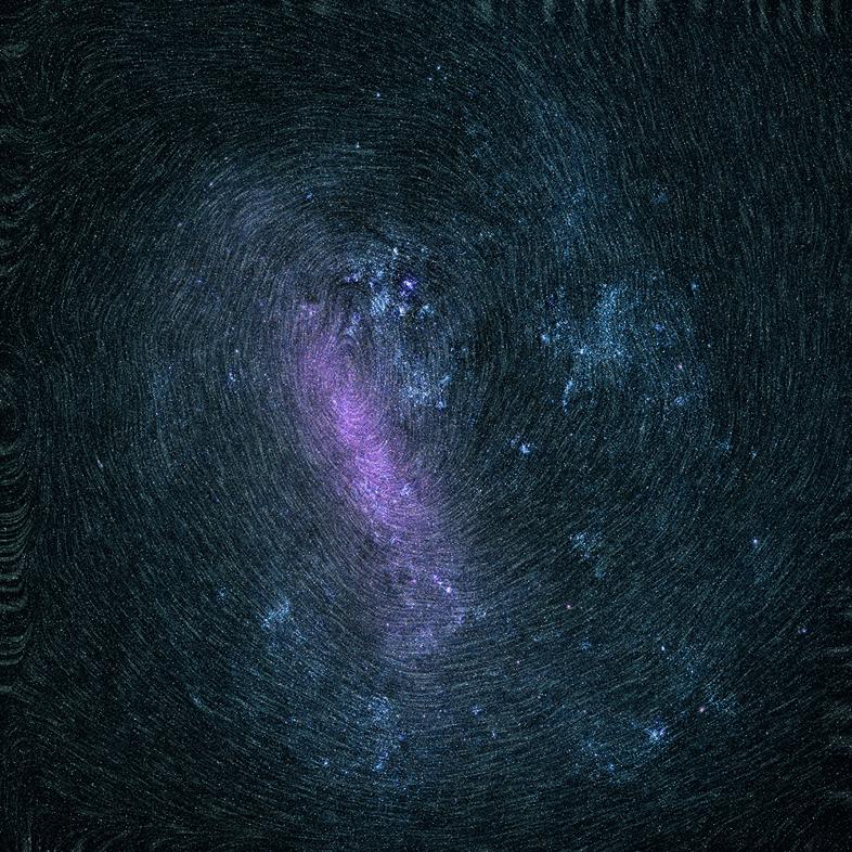 Rotación de las estrellas de la Gran Nube de Magallanes, una de las galaxias enanas que acompañan a la Vía Láctea.