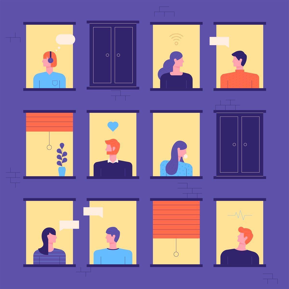 Relaciones sociales entre vecinos