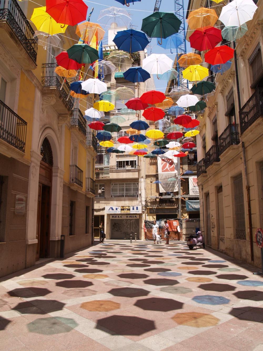 paraguas colores alicante