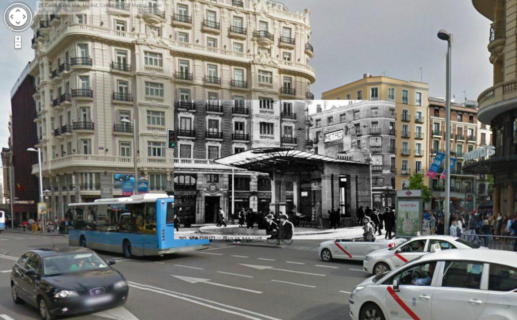 Calle Montera con Gran Vía (1930)