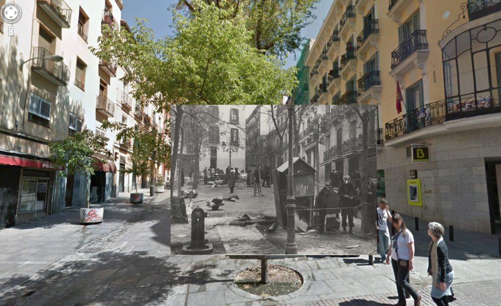 Calle Pez con Plaza de Carlos Cambronero (1937)