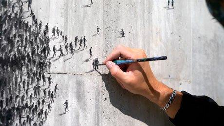 'Fortaleza', el homenaje de Pejac a los sanitarios de Santander